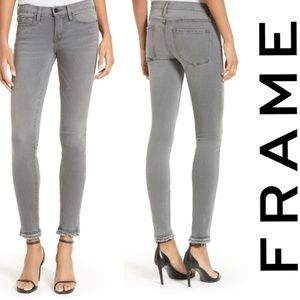 Frame denim le skinny de jean double hem sz 6 new